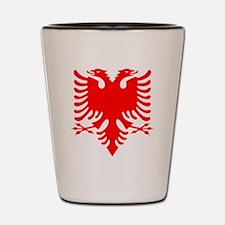 Albanian Eagle Red Shot Glass