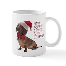 Santa Dachshund Mugs