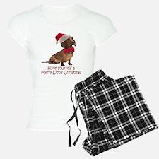 Santa Dachshund Pajamas