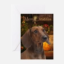 Dachshund Christmas Greeting Cards