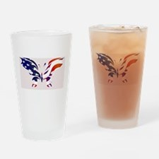 USA Patriot Butterfly Drinking Glass