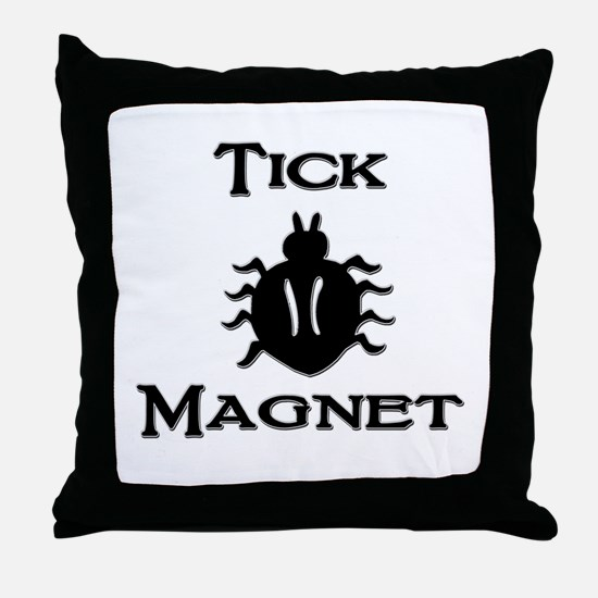 Tick Magnet Throw Pillow