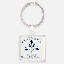 Genealogy Raise Spirits Square Keychain