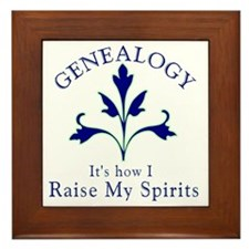 Genealogy Raise Spirits Framed Tile
