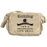Knitting Canvas Messenger Bags