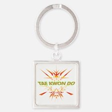 Abstract Tae Kwon Do  Square Keychain
