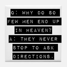Why Do So Few Men Tile Coaster