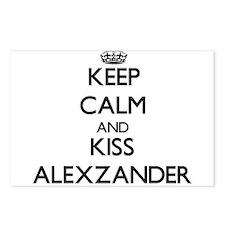 Keep Calm and Kiss Alexzander Postcards (Package o