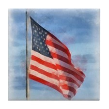 American Flag Art Tile Coaster