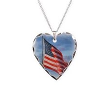 American Flag Art Necklace