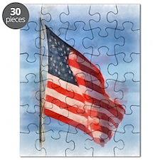 American Flag Art Puzzle