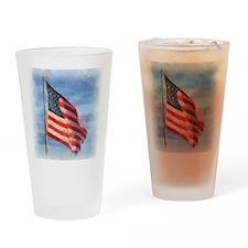 American Flag Art Drinking Glass