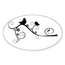 Birds silhouette on a branch Decal