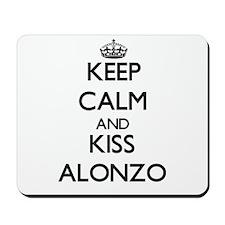 Keep Calm and Kiss Alonzo Mousepad