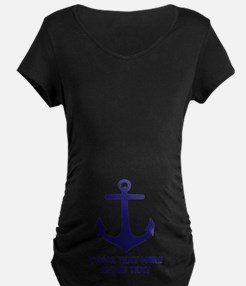 Nautical boat anchor Maternity T-Shirt