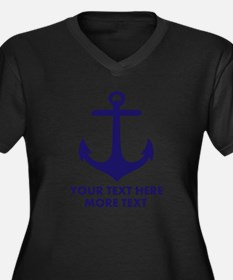 Nautical Boat Anchor Plus Size T-Shirt For Sailing