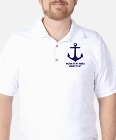 Nautical Anchor T-Shirt For Sail Boat Captain