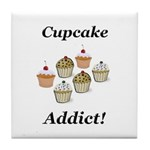 Cupcake Addict Tile Coaster