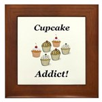 Cupcake Addict Framed Tile