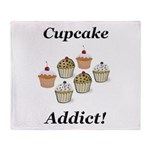 Cupcake Addict Throw Blanket