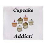 Cupcake Addict Throw Blanket