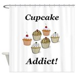 Cupcake Addict Shower Curtain
