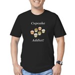 Cupcake Addict Men's Fitted T-Shirt (dark)