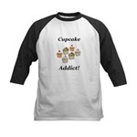 Cupcake Addict Kids Baseball Jersey
