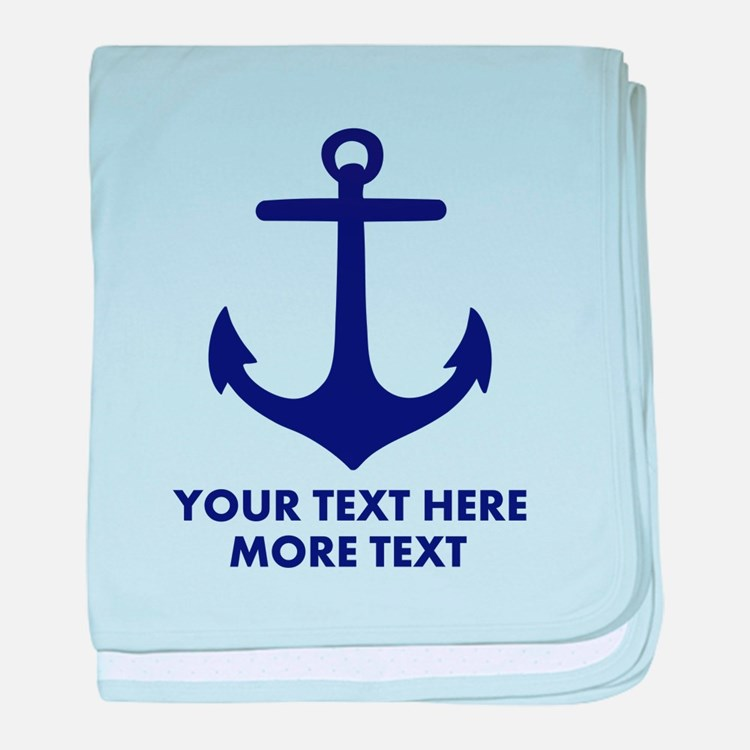 Nautical boat anchor baby blanket
