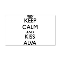 Keep Calm and Kiss Alva Wall Decal