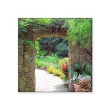 "Stone Door Path Square Sticker 3"" x 3"""