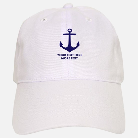 Nautical Sailing Boat Anchor Baseball Baseball Baseball Cap