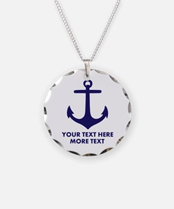 Nautical boat anchor Necklace