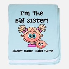 Big Sister 1 (blonde) - Customize! baby blanket