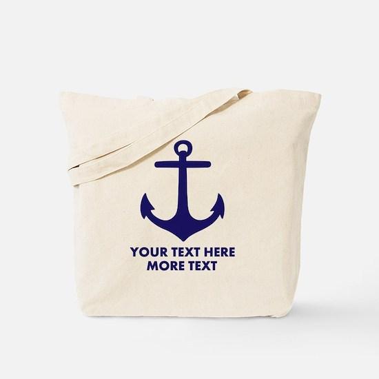 Nautical boat anchor Tote Bag