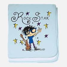 Boy Rock Star baby blanket