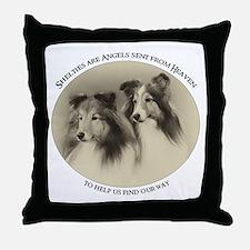 Vintage Shelties Throw Pillow