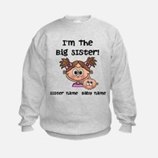 Big Sister 1 (brown) - Customize! Sweatshirt