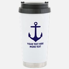 Nautical boat anchor Travel Mug