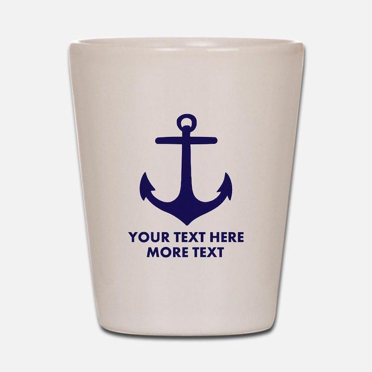 Nautical boat anchor Shot Glass