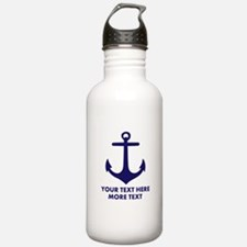 Nautical boat anchor Water Bottle