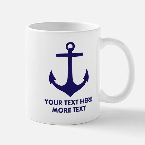 Nautical boat anchor Mugs
