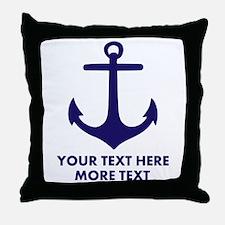 Nautical boat anchor Throw Pillow