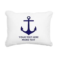 Nautical boat anchor Rectangular Canvas Pillow