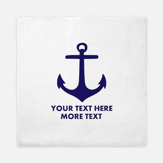 Nautical boat anchor Queen Duvet