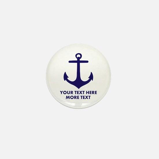 Nautical boat anchor Mini Button