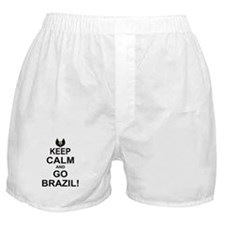 KEEP CALM AND GO BRAZIL Boxer Shorts