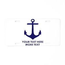 Nautical boat anchor Aluminum License Plate