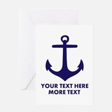 Nautical boat anchor Greeting Cards