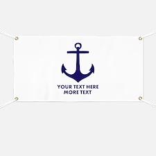 Nautical boat anchor Banner